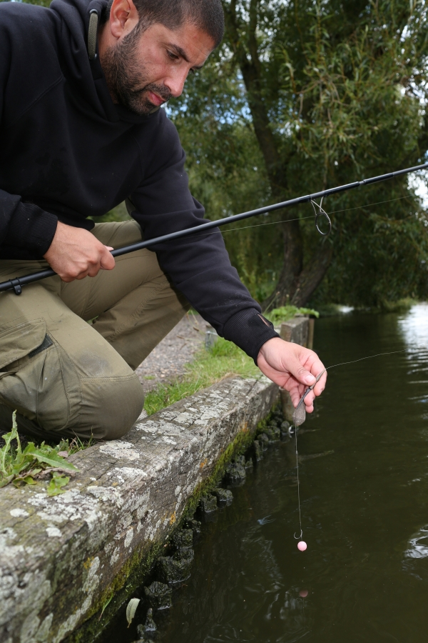 Always check the balance of your rig in the margin before casting out
