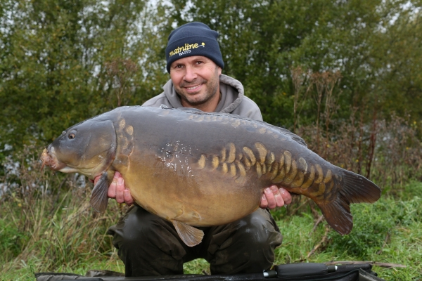 A thirty-plus whacker that couldn't resist the attraction of shelf-life baits!