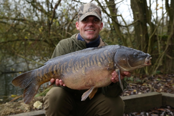 A belting 'surface caught' carp that I wouldn't have caught from a static approach