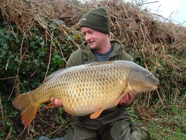 A new PB for about ten minutes – The Parrot Mouth Common at 34lb 8oz