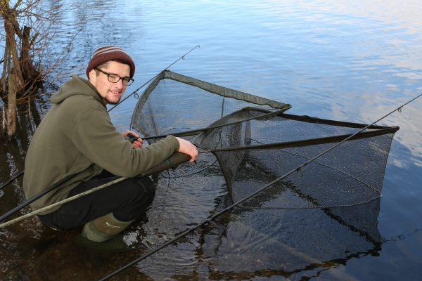 The action got a bit hectic with a fish in each of my two nets