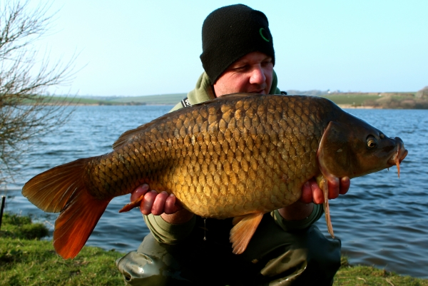 First carp of the day - the tactics worked