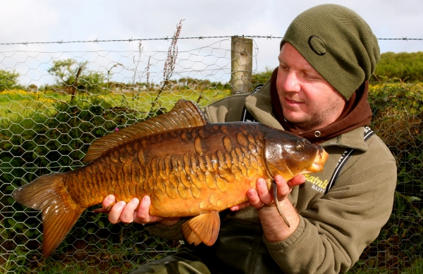 Check out this angry male, stunning carp!