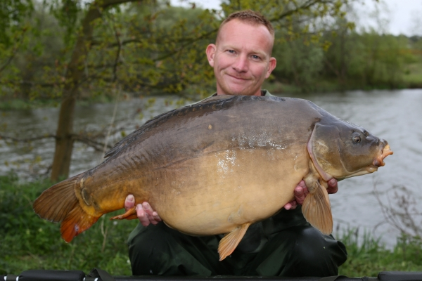 This thirty-pounder shows its just small fish that like a Zig!