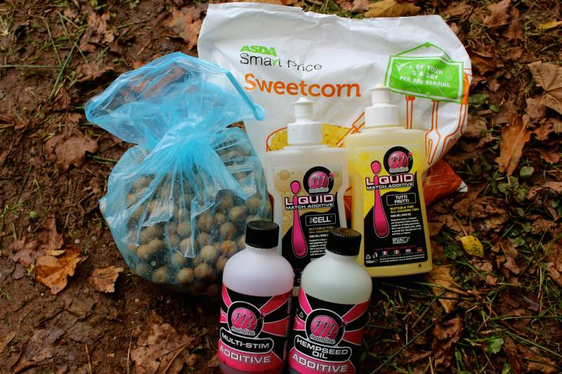 The bait and liquids used to attract the carp and get them feeding