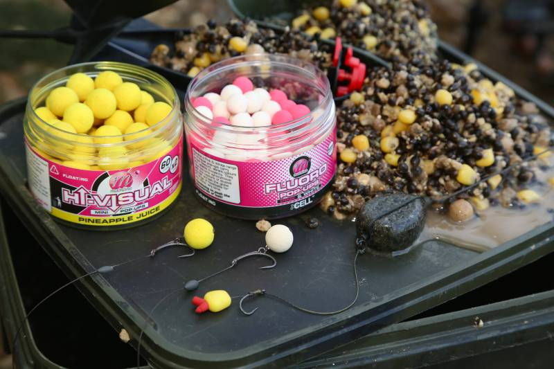My varied spod mix also provides plenty of suitable hookbait options