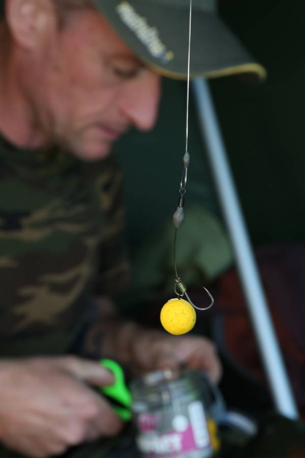 The Hinge Rig: one of favoured ways of presenting a hookbait in weed