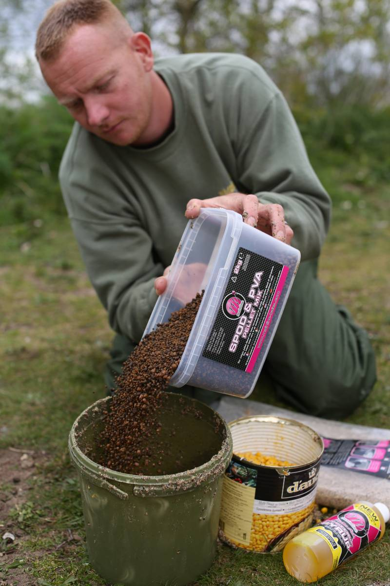 When the fish are really 'on-it' adding some pellets can help hold the fish