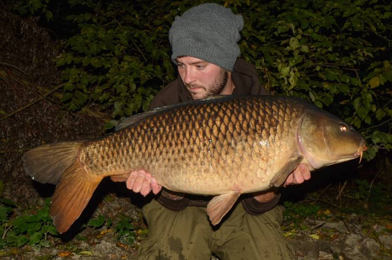 The biggest fish in the lake, caught over a mixture of four different baits, during the transition period between autumn and winter