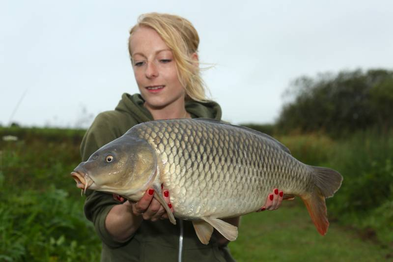 One from the drop-off – a highly attractive area for the carp