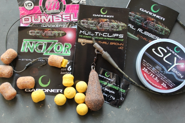 The rig and hook bait to be used.