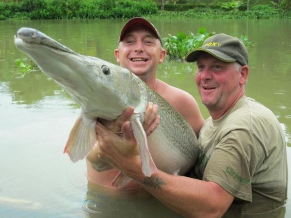 Another species! Gary with a 70lb Alligator gar!