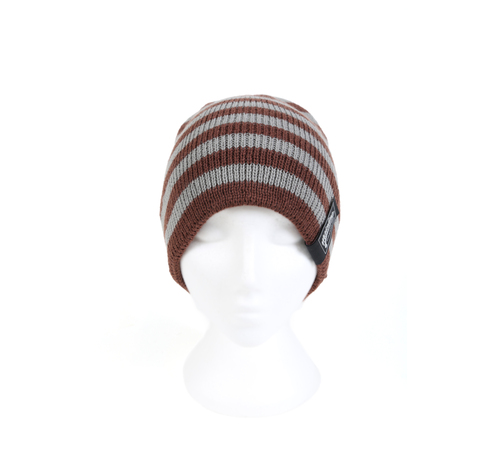 More information about Beanie - Brown & Grey Striped