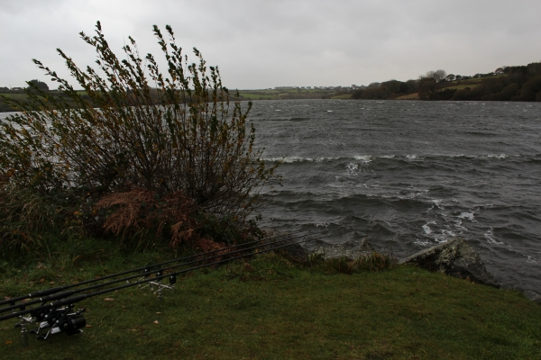 Angling and playing fish in these conditions can be tricky