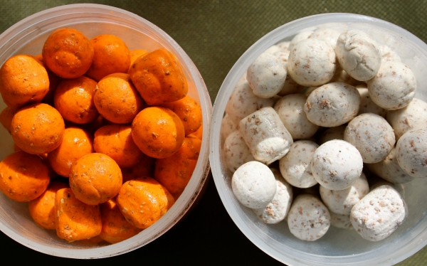 It's nearly always a choice of these for hookbait, on this session I went for the Orange Specials!