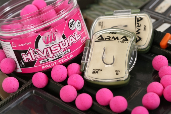 Mini 12mm pop-ups balanced a size 8 SR hook perfectly for scaled down Chods
