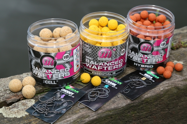 Balanced Wafters are available in 12mm, 15mm and 18mm sizes, which as a rule match size 8, size 6 and size 4 hooks respectively