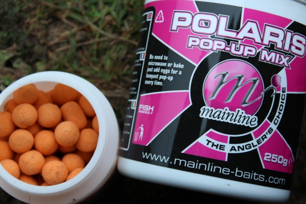Dulled down orange pop ups made from the Polaris mix and Mainline liquids