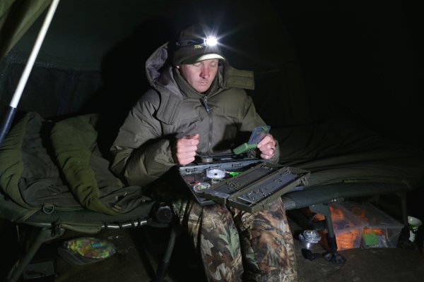 I'll utilise any quiet time on the bank to stock-up my rig box – even at night