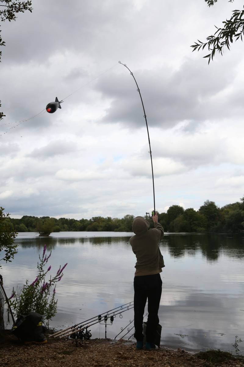 Accurate baiting is very important to me and a hey part of fishing all rods on a single spot