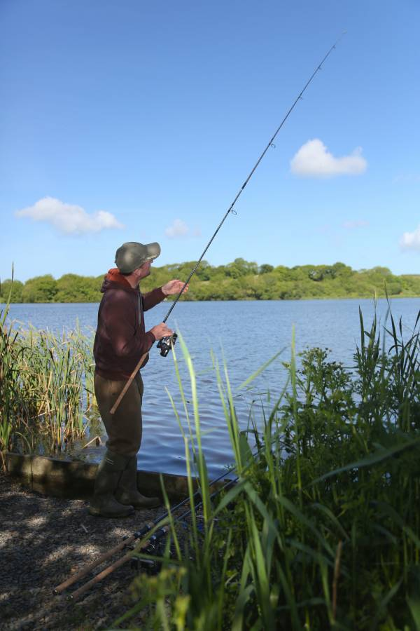 Feel the lead down to the bottom and it's often possible to fish within the weed instead of the obvious clear areas