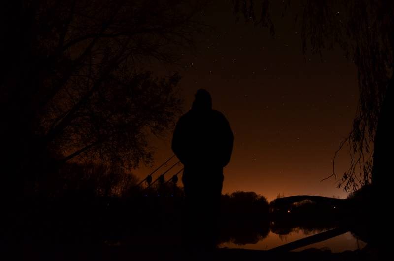 Late into the night is a good time to see carp activity during the winter
