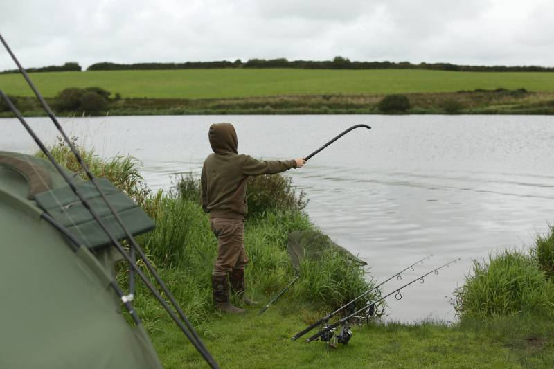A spread of boilies with the throwing stick is my favoured approach