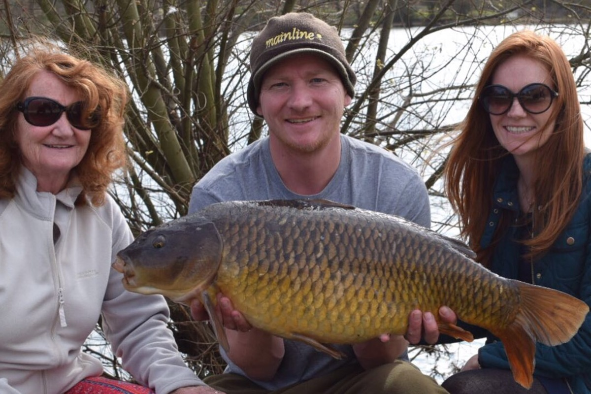 Squad Ginger' Mum, Sis, me and one of life's tonics – a carp!