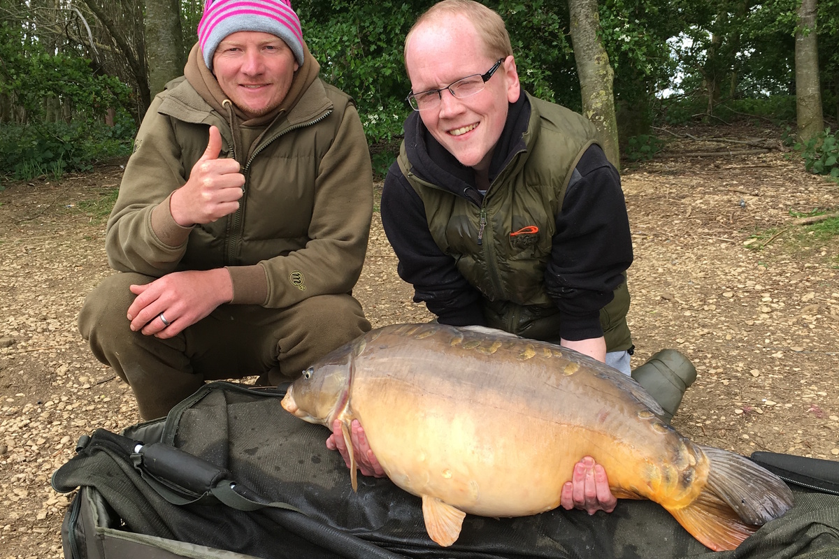Ryan Griffin with a 31lb 6oz mirror when the bites kept coming!