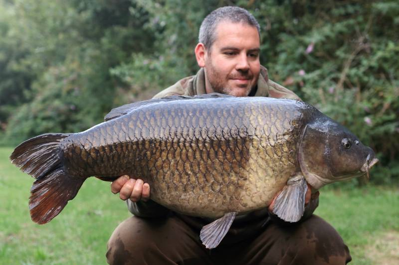The Denge Common at 35lb caught with The Posh Sutton