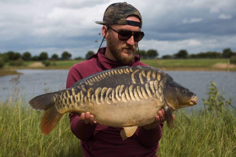 Considering hookbait colour is very important to me and kept the bites coming from these stunning Norton Disney, Embryo carp!