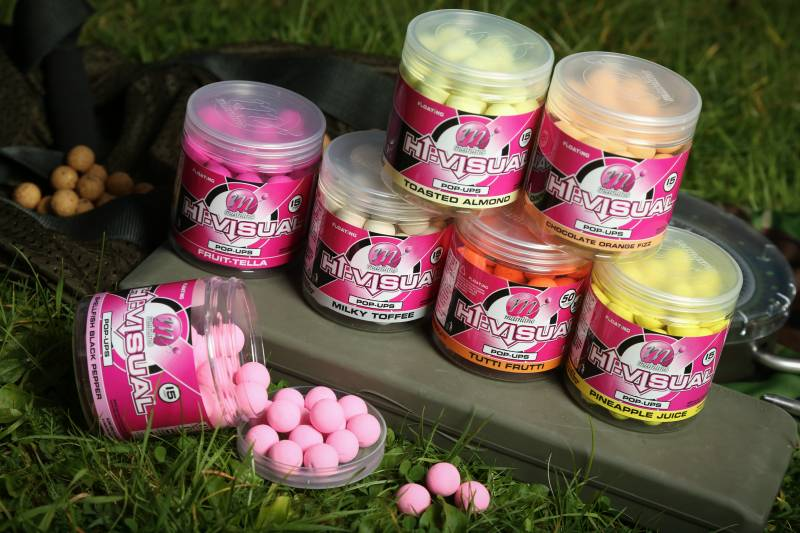 The bright, high attract, Hi-Visual Range of pop-ups is perfect for standout hookbaits and winter tactics!