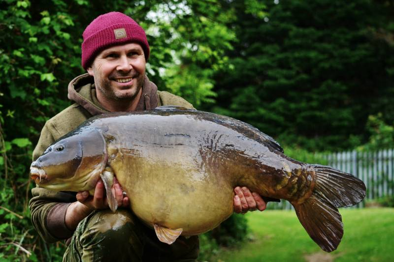 A 46lb 12oz carp that saw my bait as food, not danger and that is an edge!