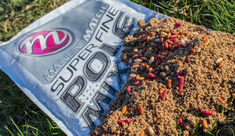 Super Fine Pole Mix: A very low-feed, fine mix that contains a blend of fishmeal, crushed pellets and the sweet scent of Mainline Cell