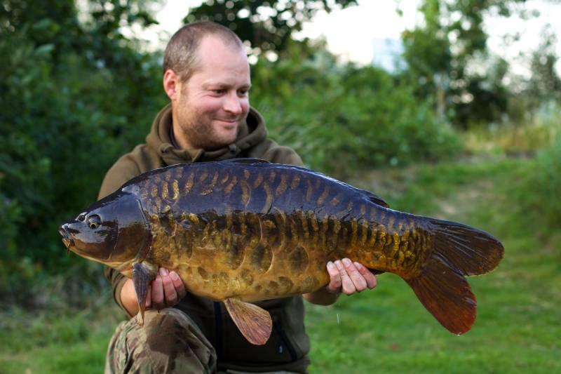 A stunning, heavily scaled mirror that fell to my 'all season bait' approach