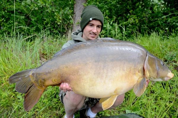 A lovely carp caught on a balanced hookbait!