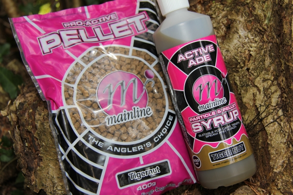 Pro-Active Carp Pellets in Tiger Nut syrup, a great tactic on lakes where nuts are banned