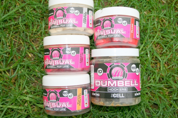 Just a few of the vast choice of Mainline hook-baits available