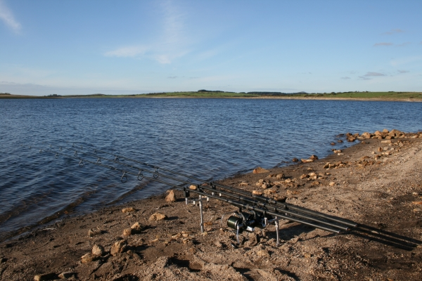 More than confident to cast out three single PVA sticks in this massive Cornish reservoir