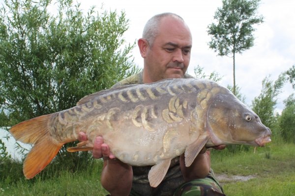 Another Zig victim - 15lb heavily scaled mirror!